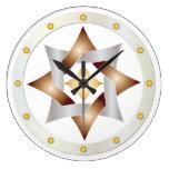 Nudo céltico en el círculo de puntos - reloj redon
