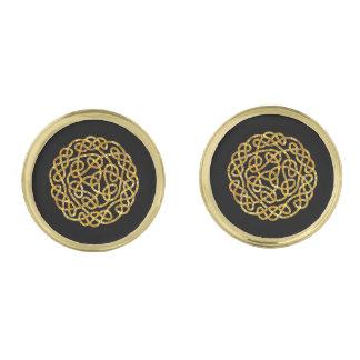 Nudo céltico en oro gemelos dorados