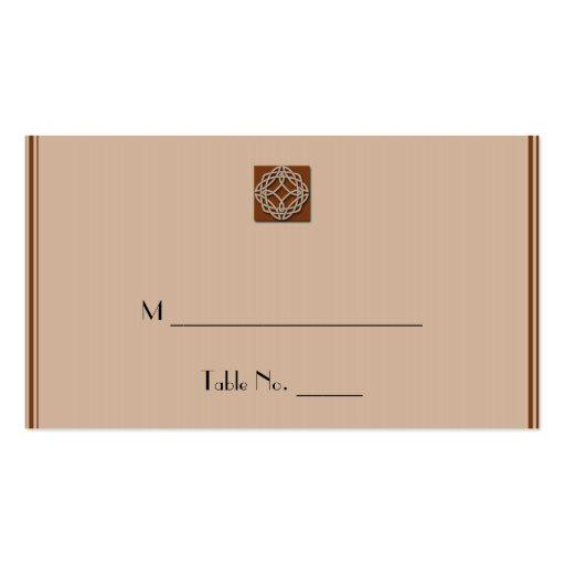 Nudo céltico en tarjetas del lugar de la crema y tarjetas de visita