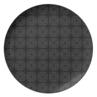 Nudo céltico - gris oscuro - placa platos