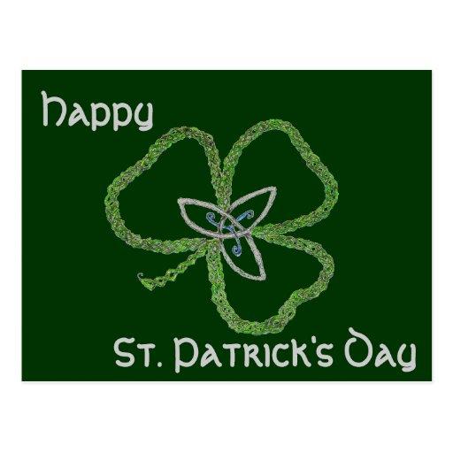 Nudo céltico irlandés del trébol postales
