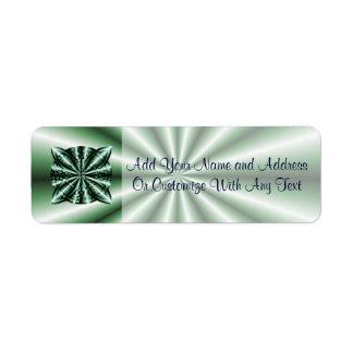 Nudo céltico metálico verde modificado para etiqueta de remite