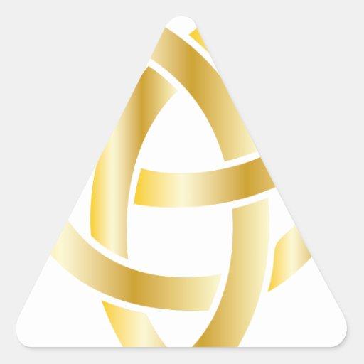 Nudo céltico pegatina triangular