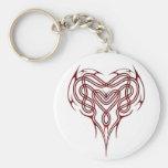 Nudo céltico rojo del corazón llaveros personalizados