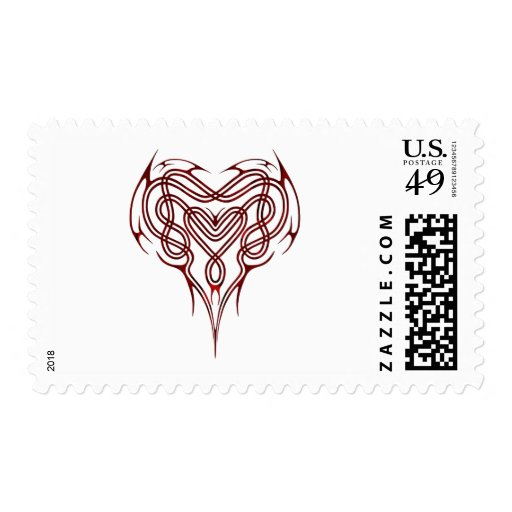 Nudo céltico rojo del corazón sellos