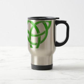 Nudo céltico taza de viaje de acero inoxidable