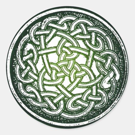 Nudo céltico (tradicional) pegatina redonda