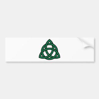 Nudo céltico verde etiqueta de parachoque