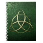 Nudo céltico verde de la trinidad cuadernos