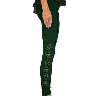 Nudo céltico verde de la trinidad