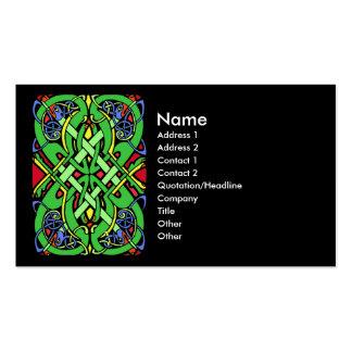 Nudo colorido del Celtic de la serpiente Tarjetas De Visita