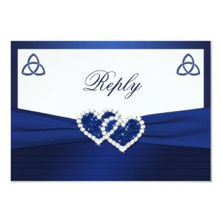 Nudo de amor céltico en tarjeta de contestación invitacion personalizada