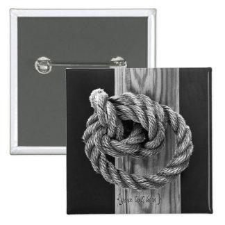 Nudo de la cuerda pin cuadrada 5 cm