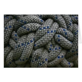 Nudo de la cuerda que sube tarjeta de felicitación
