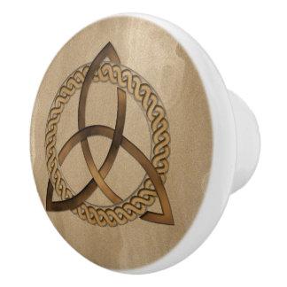 Nudo de la trinidad de Triquetra del Celtic Pomo De Cerámica