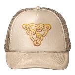 Nudo de la trinidad del oro gorras