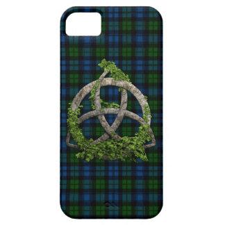 Nudo de la trinidad y tartán célticos de Campbell  iPhone 5 Protectores
