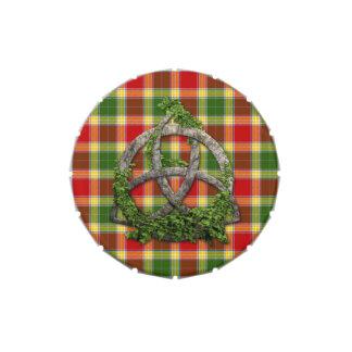 Nudo de la trinidad y tartán célticos de Gibson Jarrones De Dulces