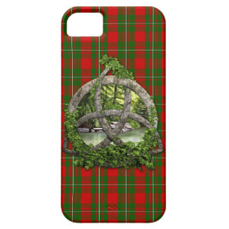 Nudo de la trinidad y tartán célticos de MacGregor iPhone 5 Protectores