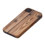 Nudo de madera - textura de madera del grano iPhone 4 cobertura