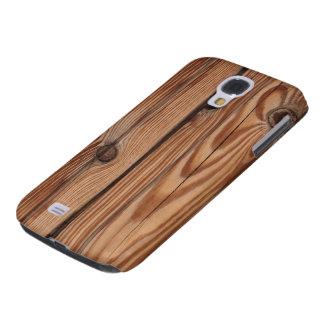 Nudo de madera - textura de madera del grano funda para galaxy s4