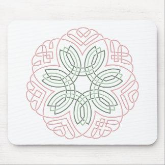 Nudo de siete flores tapetes de ratón