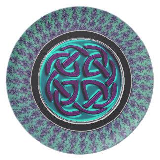 Nudo del Celtic de la mandala del fractal de Plato