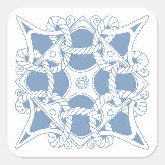 Nudo del Celtic de los marineros de los marinos de Pegatina Cuadrada