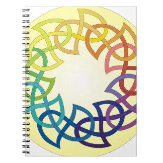 Nudo del Celtic del arco iris Cuaderno