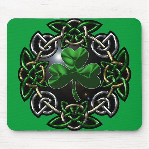 Nudo del Celtic del día de St Patrick Tapete De Raton
