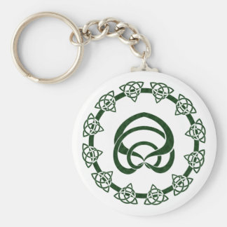 Nudo del Celtic del Tri Punto; Centro de la serpie Llavero Redondo Tipo Pin