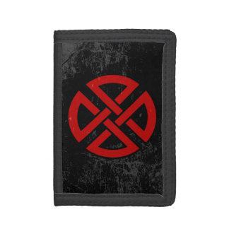 Nudo del escudo (céltico, rojo y negro, apenado)