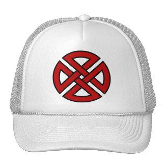 Nudo del escudo (versión céltica en rojo y negro) gorras