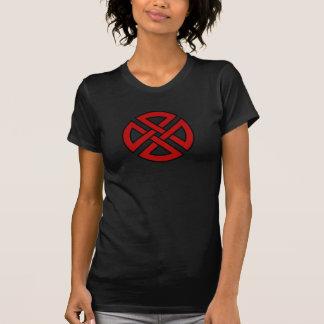 Nudo del escudo (versión céltica en rojo y negro) playera