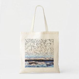Nudo en la costa bolsa lienzo
