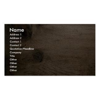 Nudo en madera tarjetas de visita