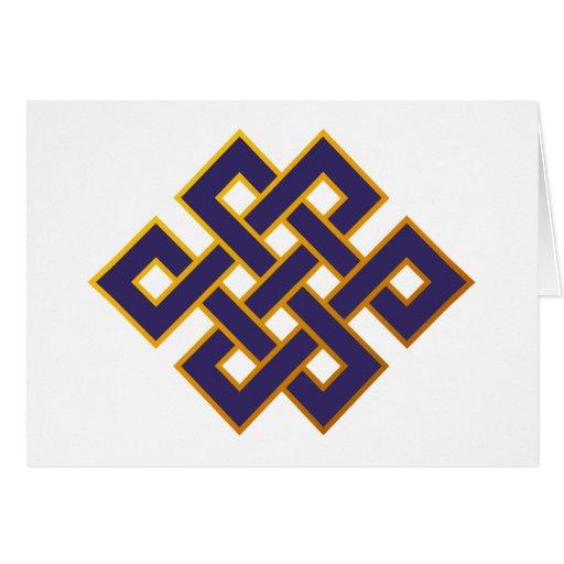 Nudo eterno del Buddhism azul de las karmas de la  Tarjetas