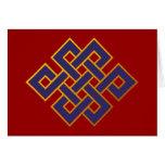 Nudo eterno del Buddhism azul de las karmas de la  Tarjeton