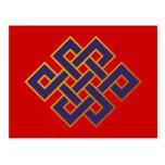 Nudo eterno del Buddhism azul de las karmas de la Postal