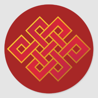 Nudo eterno del Buddhism de las karmas de la Etiquetas Redondas