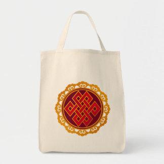 Nudo eterno del Buddhism tibetano de las karmas Bolsa Tela Para La Compra