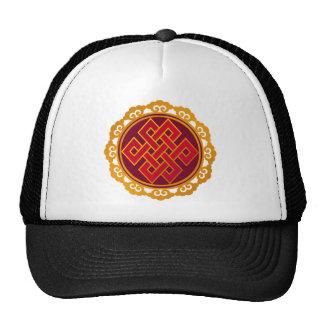 Nudo eterno del Buddhism tibetano de las karmas Gorros Bordados