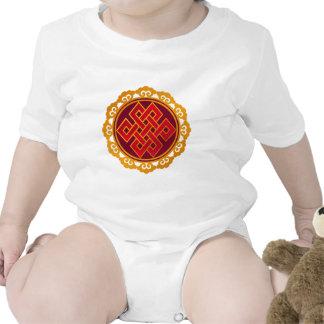 Nudo eterno del Buddhism tibetano de las karmas Traje De Bebé