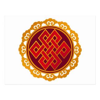 Nudo eterno del Buddhism tibetano de las karmas Postal
