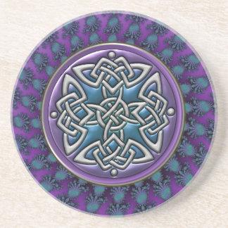 Nudo fresco del Celtic de la mandala del fractal Posavaso Para Bebida