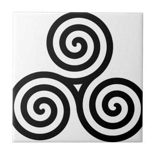 Nudo II de Triquetra del Celtic Azulejos Ceramicos