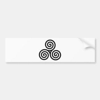 Nudo II de Triquetra del Celtic Pegatina Para Auto