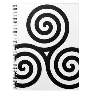 Nudo II de Triquetra del Celtic Libro De Apuntes Con Espiral