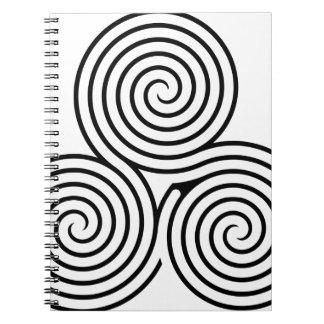 Nudo II de Triquetra del Celtic Libros De Apuntes Con Espiral