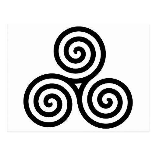 Nudo II de Triquetra del Celtic Postales